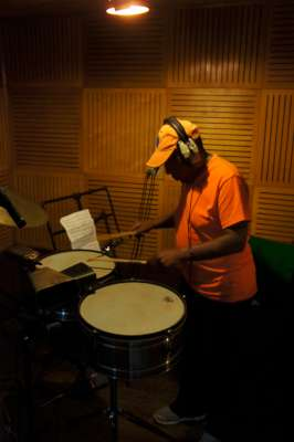 The Great Changuito on Timbales