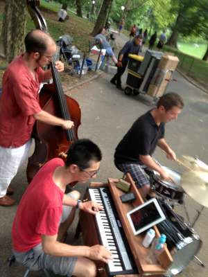 Jamming in Central Park with Mark Lockett & Seth Myers